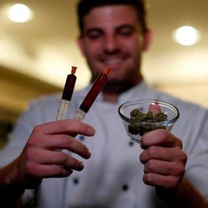 mariguana en la cocina