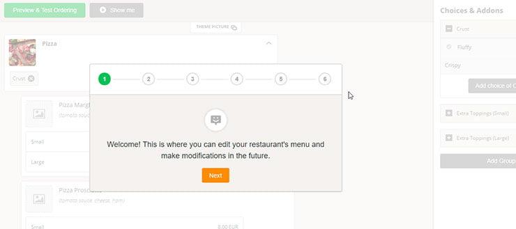 web de restaurantes
