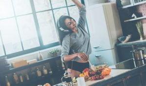 sonido y comida
